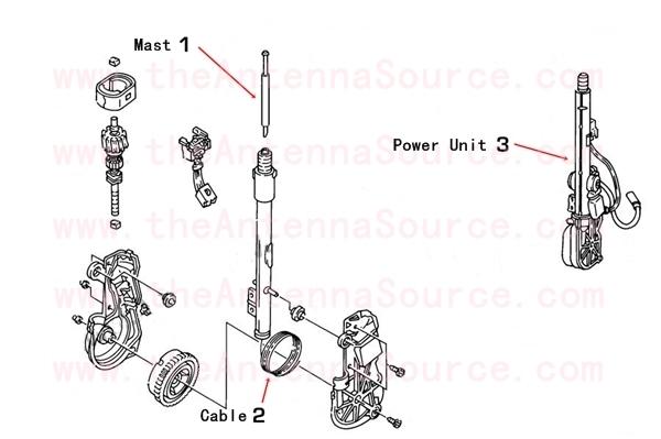 1982 1983 1984 1985 1986 1987 buick regal antenna parts